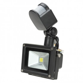 Kraftig projektor-lys m. bevægelsessensor