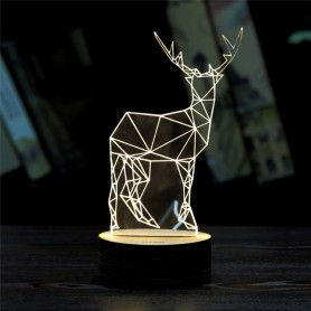3D Krondyr-lys
