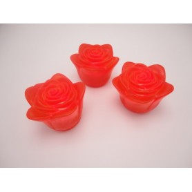 Rødt LED-roselys