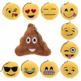 Emoji-nøgleringe