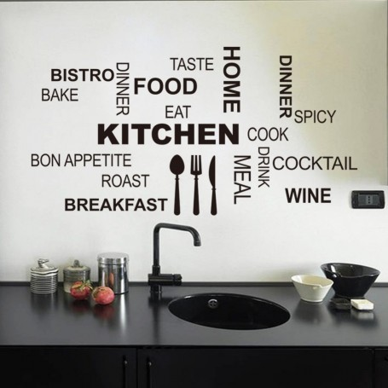 Wallsticker til køkkenet