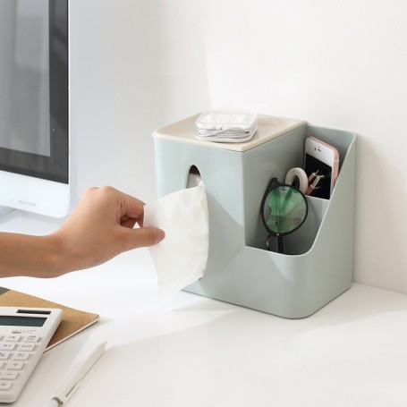 Praktisk natbords/skrivebords-boks