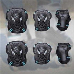 Farverigt knivsæt med stander