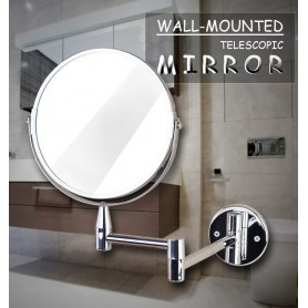 Væghængt spejl til badeværelset