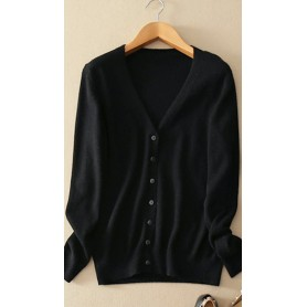 Cardigan med v-neck