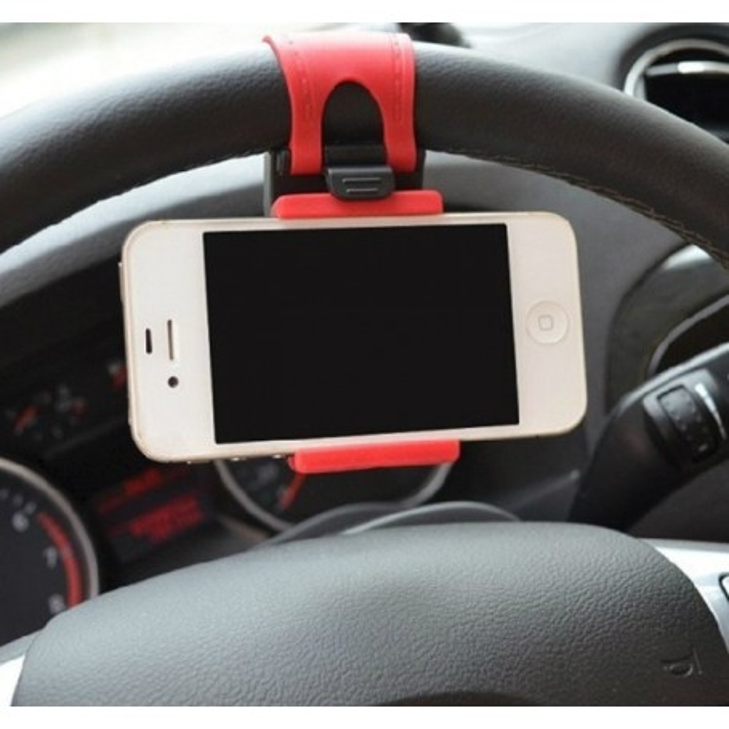 Mobilholder til rattet