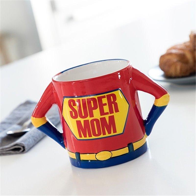 Håndtaske i tern-look med læder